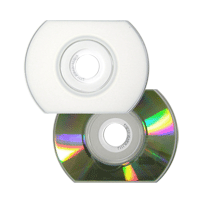 CD Card oval Ritek Printable Branco/Prata 5min/50MB(12x) + envelope