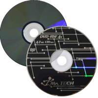 DVD-RW Mr. Tech c/ Logo 4.7GB(4x) (Pino)