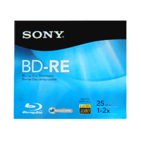 Blu-ray Disc Regravável Sony Lacrado 25GB (1x-2x) - BD-RE