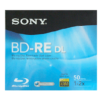 Blu-ray Disc Regravável Sony Lacrado 50GB (1x-2x) - BD-RE DL